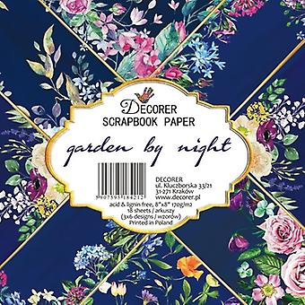 Decorer Garden by Night 8x8 Inch Paper Pack