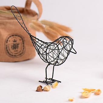 Creative Iron Abstract Bird Miniatures - Vintage Animal Figurine