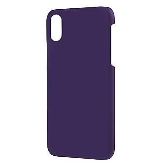 Shell for Apple iPhone X Solid Colored Purple Plastic Hard Case