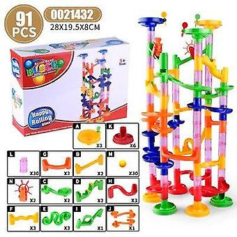 29-105pcs Marble Race Run Maze Balls Piste Blocs de construction Construction Plastique Pipe Slide Bricks Compatible Blocs de marque