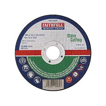 Faithfull Stein abgeschnitten Scheibe 125 x 3,2 x 22 mm FAI1253S