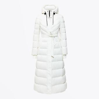 Mackage  - Calina - Maxi Lightweight Down Hooded Coat - Off-White