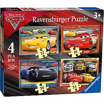 Ravensburger Disney Pixar Cars 3, 4 in a Box Jigsaw Puzzles