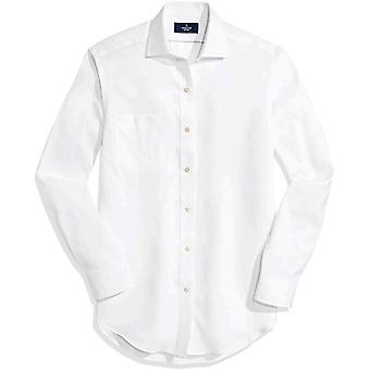ボタンダウンメン&アポス;sクラシックフィットスプレッドカラーノンアイアンドレスシャツ(ポケット)、..
