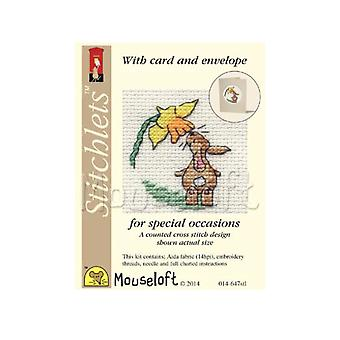 Easter Bunny Stitchlets Counted Cross Stitch Card Making Kit