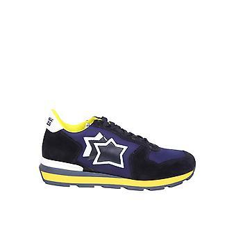 Atlantic Stars Antaranoabt52 Männer's Blaue Leder Sneakers