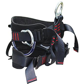 Rock climbing waist and hip seat belt, ready for outdoor sports rescue.