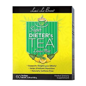 Natrol Laci Le Beau Super Dieters Tea, Lemon Mint 60 Bags