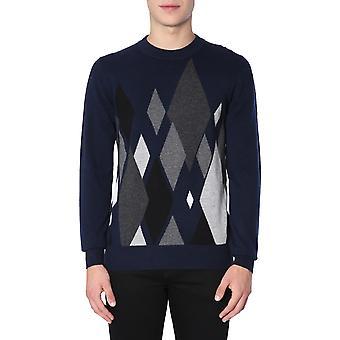 Ballantyne N2p00012ka293668 Men's Blue Cashmere Sweater