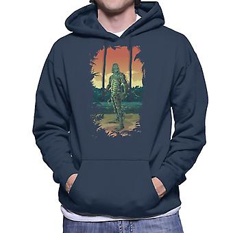 The Creature From The Black Lagoon Full Body Seaweed Men's Hooded Sweatshirt