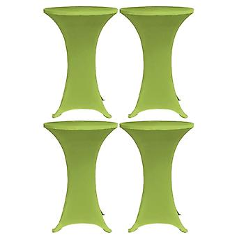 Stretch table husses 4 pcs. 80 cm green