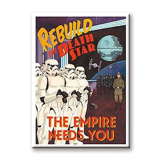 Star Wars Återuppbygga Dödsstjärnan Imperiet behöver du Magnet