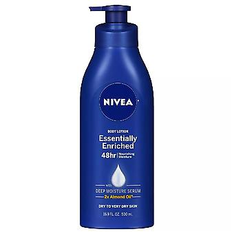 Nivea essentially enriched body lotion, almond oil, 16.9 oz