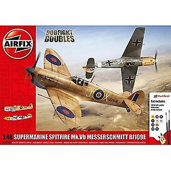 Airfix A50160 Supermarine Spitfire MkVb Messerschmitt Bf109E 1:48 Modèle Kit