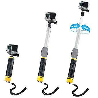 Camkix waterproof telescopic pole/floating hand grip compatible with gopro hero and dji osmo action