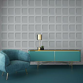 Heritage Wood Panel Wallpaper Grey Debona 6741