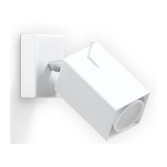 Merida hvid stål væg lys 1 pære