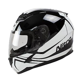Nitro N2400 Rogue Full Face Motor Helm Zwart Wit
