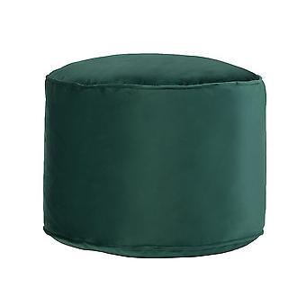 Forest Green Round Bean Bag Foot Rest Stool Pouffe Living Room Beanbag Ottoman Footstools
