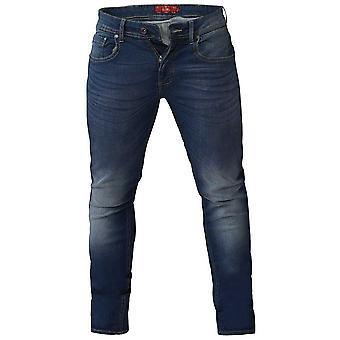 Duke Mens Ambrose Stretch Konisk Jeans
