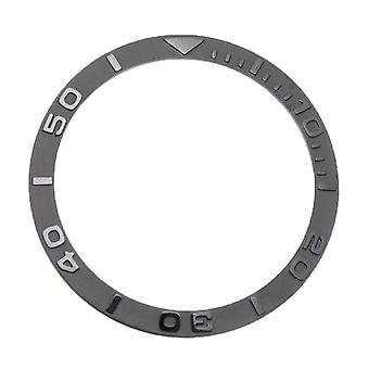 Zirconia keramický prsten ústa keramické měřítko prsten silver / černé hodinky příslušenství