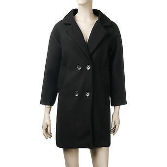 Herbst/Winter Woollen Langarm Turn-down Kragen Oversize Blazer Jacke