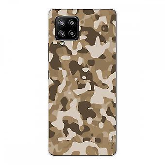 Scafo per Samsung Galaxy A42 5g Silicone Soft 1 Mm, Desert Military Camouflage