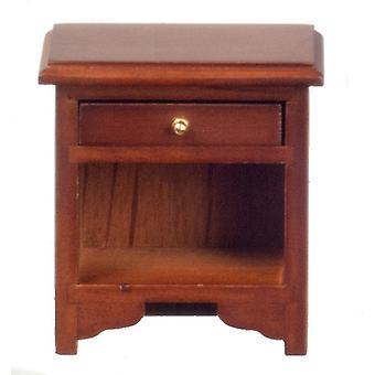 Nuket Talo Walnut Bedside Cabinet Yöpöydän Miniatyyri Makuuhuone Huonekalut