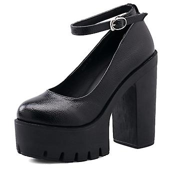 New Casual High-heeled Sexy Thick Heels Platform Pumps Shoes