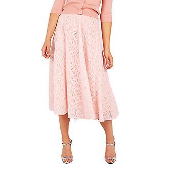 Louche Womens Meda Lace Midi Skirt Pink