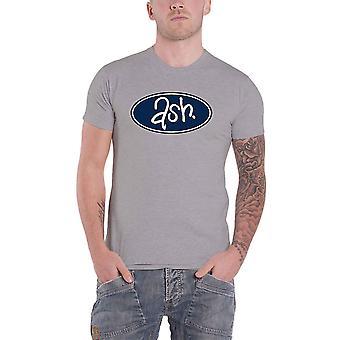 Ash T Shirt Blue Band Logo og Stripe nye officielle Herre Grey