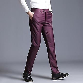 Herren dünne Kleid gerade Business Office Hose Formal Pantalon Hombre