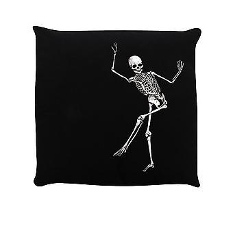 Grindstore Dancing Skeleton Filled Cushion