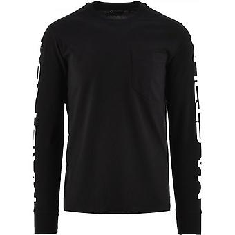 MA.STRUM Black Sleeve Print T-Shirt