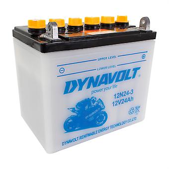 Dynavolt 12N243 Conventional Dry Charge Battery With Acid Pack