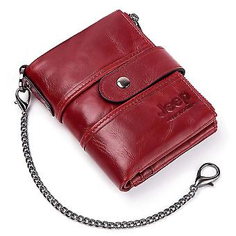 Genuine Leather Wallet, Crazy Horse, Coin Purse, Money Bag
