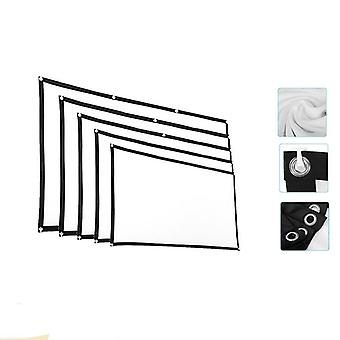 Pantalla de proyector 3d Hd, proyección anti-pliegue 16:9 con ganchos de paquete