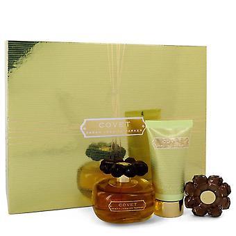 Covet Gift Set By Sarah Jessica Parker 3.4 oz Eau De Parfum Spray + 2.5 oz Body Loiton + Perfume Compact