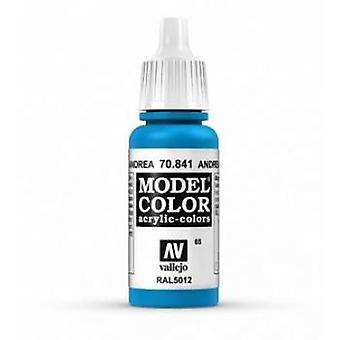 Vallejo Model Color 17ml Acrylic Paint - 841 Andrea Blue