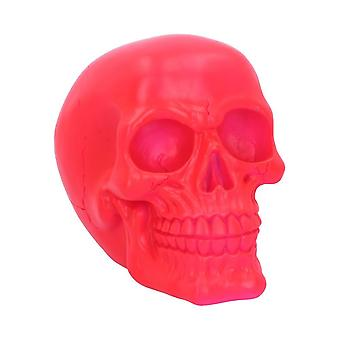 Nemesis Now Psychedelic Fluorescent Skull Pink Figurine 15.5cm