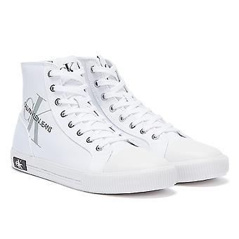 Calvin Klein Jeans Gevulkaniseerd Hoog Polyester Heren Witte Trainers