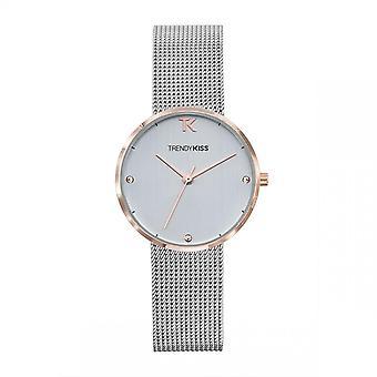 Trendy Kiss horloge TMRG10105-03-Laura Bo tier staal dor roze stalen armband zilver zilver wijzerplaat zilver vrouwen