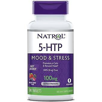 Natrol 5HTP à dissolution rapide 100 mg 30 Comprimés
