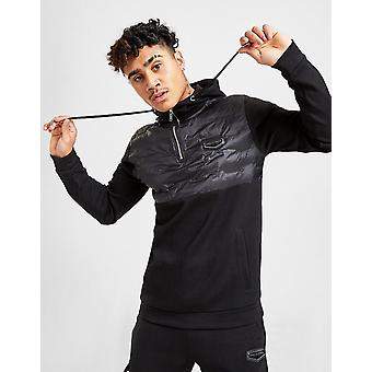 New Supply & Demand Men's Runner 1/4 Zip Hoodie from JD Outlet Black