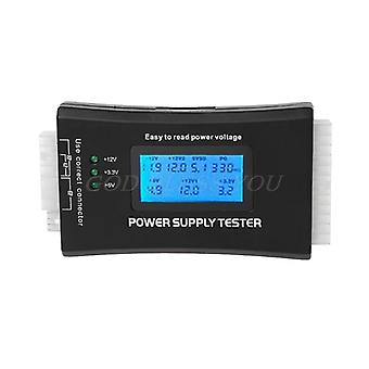 Lcd Pc Computer 20/24 Pin 4 Psu Atx Btx Itx Sata Hdd Power Supply Tester