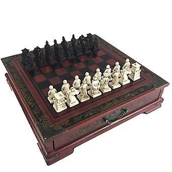 New Wood Chess Retro Terracotta Warriors