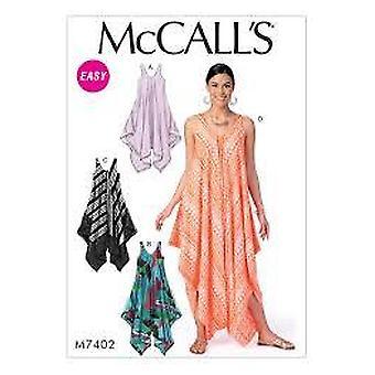 McCalls Schnittmuster 7402 Misses Kleider & Jumpsuit Größe L-XXL