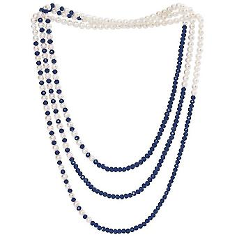 Pearls of the Orient Gratia Classic Freshwater Pearl Rope Necklace - Blue