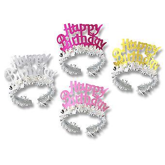 Alles Gute zum Geburtstag Tiaras W/Fringe (Packung mit 72)