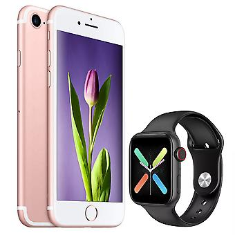 iPhone 7 Rose Gold 128GB + Smartwatch X8 Black (Gift)